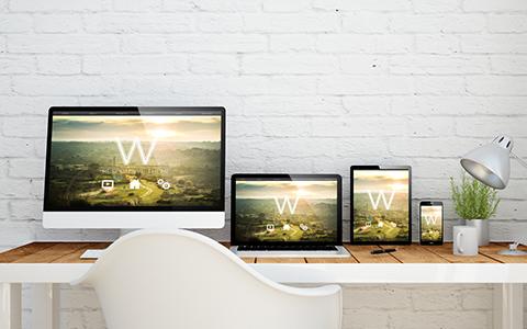 パソコン、モバイルのホームページ レスポンシブ表示